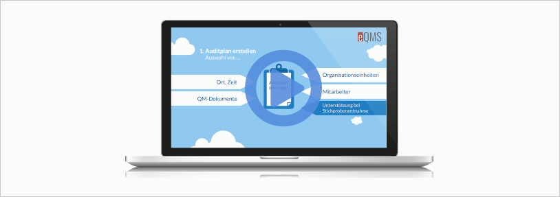 Kurzes Video, welches das Audit Modul vom eQMS vorstellt, Qualitätsmanagement Software eQMS